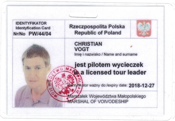 Christian's tour guide badge PW/44/04
